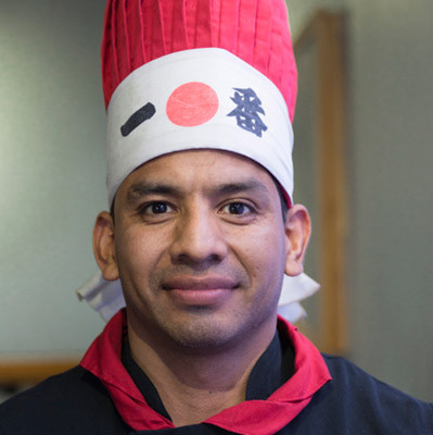 hibachi chef Bizmark at Kabuto Japanese Steakhouse - Charlotte NC