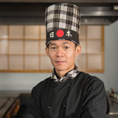 hibachi chef Dak at Kabuto Japanese Steakhouse - Charlotte, NC
