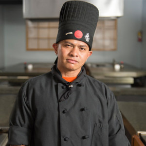 hibachi chef Levi at Kabuto Japanese Steakhouse - Charlotte, NC