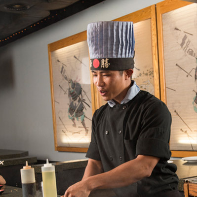hibachi chef Tuan at Kabuto Japanese Steakhouse - Charlotte NC